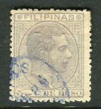 PHILIPPINES;  1880 early classic Alfonso issue used 5c. value,  Postmark