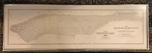"""1609 Island of Manhattan Map at the time of Discovery by Townsend MacCoun 51 """""""