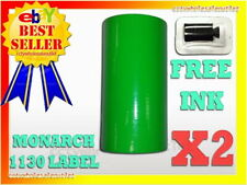 2 Fluorescent Green Label For Monarch 1130 Pricing Gun 2 Sleeve 20 Rolls