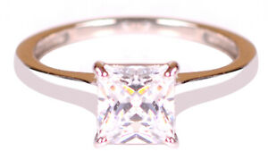 925 Sterling Silver / 4.50Ct VVS1- Clarity Princess Shape Solitaire Women's Ring