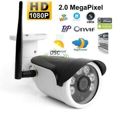 1080P HD Wireless WiFi Weatherproof Bullet IP Outdoor Security Camera +16GB SD