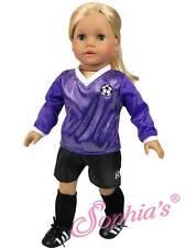 "PURPLE Soccer Outfit Uniform w/ ball fit 18"" American Girl Doll futbol"