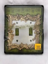 Vintage AMEROCK CARRIAGE HOUSE Double Light Switch Cover Plate NOS