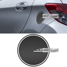Fuel Oil Tank Door Cap Carbon Decal Sticker Cover for TOYOTA 2011-16 Yaris Vitz
