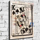 """32x24"""" Alec Monopoly """"King Spade"""" HD print on canvas rolled up contemporary art"""
