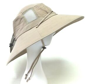 SUN PROTECTION ZONE Unisex BOONEY HAT Lightweight KHAKI Adult 100 SPF UPF 50+