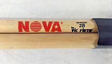 VIC FIRTH 2B NOVA Drum Stick Drumstick Drumsticks One Pair USA HIckory Brand New