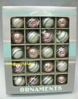 EASTER Christopher Radko Pastel 20 MINI Ornaments Pink Green Shiny Brite Glass