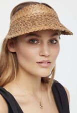 New Island Hopper Woven Straw Visor // Brown, Black, White / Free People Sun Hat