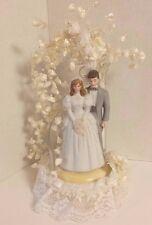 VINTAGE WILTON BRIDE AND GROOM CAKE TOPPER VINTAGE WEDDING COUPLE 1983 WILTON