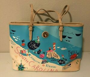 "SPARTINA 449 ""SEA ISLANDS"" LARGE TOTE HANDBAG PURSE"