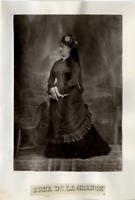 Opera, Anna de la Grange Vintage print Photoglyptie  8x12  Circa 1880