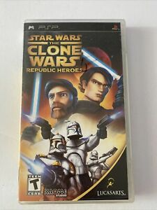 Star Wars: The Clone Wars Republic Heroes Sony PSP Complete *Free Shipping*