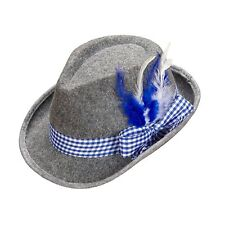 Women/'s Autentico Cappello Bavarese Oktoberfest Mini Blue /& Feather GALLINA Germania Divertente