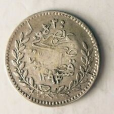 1876 OTTOMAN EMPIRE 20 PARA - High Quality Rare Islamic Silver Coin - Lot #Y6