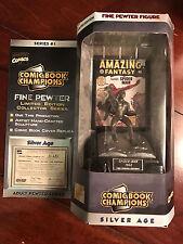 Marvel Comic Book Champions Fine Pewter Limited Edition Spider-Man Figure NIB
