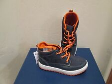 OSHKOSH KIDS SANDER HIGH TOP SNEAKERS NAVY/OR TODDLER BOYS SHOES SZ 12 M NEW