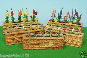 Britains Floral Garden Stone Wall with Flowers (choose from 7 Different)...!!