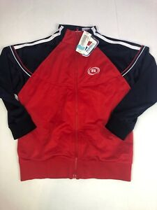 NWT Vintage Russell Athletic Youth Track JACKET Size Medium New Old Stock Red