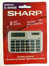Sharp Calculator Twin Power Solar & Electronic 10 Digit Handheld NEW EL-869GllB