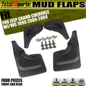 4x Splash Guard Mud Flaps Mudflaps for Jeep Grand Cherokee WJ WG 1999 2000-2004