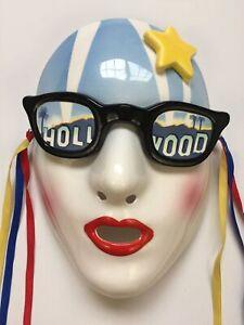 """Vintage 1984 Vandor Hollywood Porcelain Wall Mask Pelzman Designs Made Japan 8"""""""