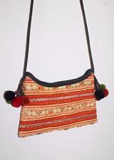 Unbranded Designer Hippy Embroidered Pom Pom Cross Over Purse Handbag
