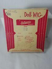 VINTAGE DollSpart Size 12 Princess Honey Blonde Hair Dynel Doll Wig