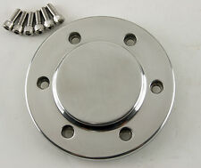 """Polished Motor Pulley Cap for All 3.35"""" Ultima Street Style Open Belt Drives"""