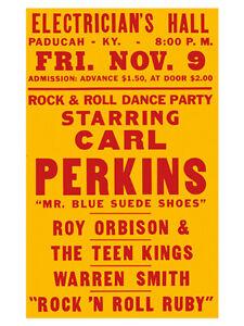 Fifties - Carl Perkins  - Electrician's Hall Concert Poster reprint (1957)