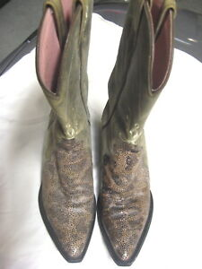 L@@K! Awesome Ariat Faux Lizard Skin Woman's Western Boots  6-1/2B VFine+++ NWOB