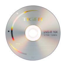 500 ct 16X Logo Top Blank DVD-R DVDR Disc Storage Media 4.7GB, Made in Taiwan