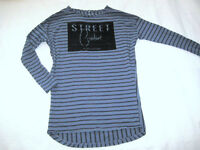 NAME IT Sweat Long Shirt KLEID Langarm gestreift blau Gr. 164 NEU