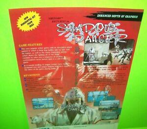 Sega Shadow Dancer Arcade FLYER Original 1989 NOS Video Game Art Japan Shinobi