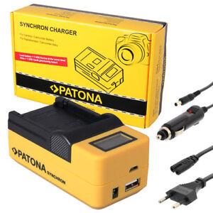 PATONA LCD USB Ladegerät für AKKU Sony Alpha SLT-A57 SLT-A58 SLT-A65 SLT-A68