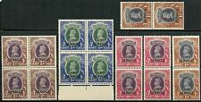 INDIA JIND SERVICE HIGH VALUES SCOTT#O72/O75 LOT OF FOUR EACH MINT NEVER HINGED