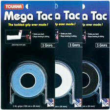 TOURNA Mega Tac Overgrip 3 Pack, Black Blue White