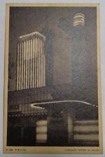 Carillion Tower at Night Postcard Chicago IL building Century of Progress 1933