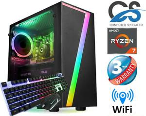 CS Gaming Desktop PC AMD Ryzen 7 3700X (Octa) 8 Core 16GB RAM 1TB HDD GTX1050Ti