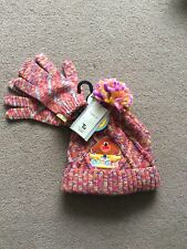 BNWT Girls Age 6-9 Years Multi Coloured Hey Duggee Bobble Hat & Matching Gloves