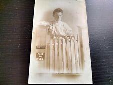 1909 Woman advertising Electric Little photo Grand rapids Michigan RPPC Postcard