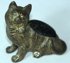 ANTIQUE c1890's~~RaRe  SEATED CAT PIN CUSHION~~,figural, NOVELTY-MADE IN GERMANY