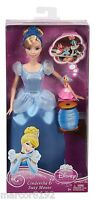 Disney Princess Sparkle Cinderella Doll and Suzy Mouse Giftset New By Mattel