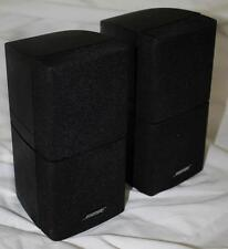 2 Bose Double Cube Home Theater Speakers Lifestyle Acoustimass x 2 NICE!