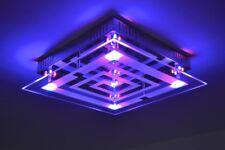 Deckenleuchte Design LED Farbwechsel Leuchte Glas Lampe Deckenlampe Lampen NEU