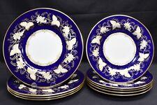 Grosvenor Spode 8115 Blue Lot of 4 Dinner & 5 Luncheon Plates (Crazing)