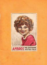 PUBBLICITA' 1923 AMBROS FARMACEUTICA POLLI MILANO BAMBINI DUDOVICH CURA MAMIE