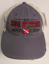 Scuba Outfitters Diving Hat Cap Florida USA Embroidery Truckers Snapback New