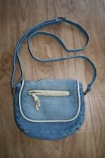 DENIM CROSS BODY BAG FROM CLAIRE'S VERY GOOD CONDITION