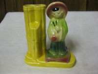 Shawnee Pottery Planter Ancient Chinese Boy & Vase USA 702 Yellow Green & Red